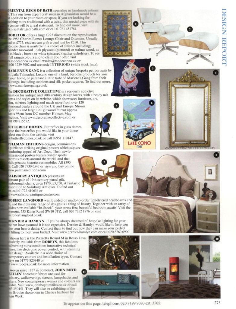 April 2016- The World of Interiors ad